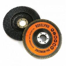 Круг лепестковый конический 125x22  ROXELPRO Zirconium P40 (сталь/нерж) 111543