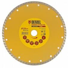 Диск алмазный отрезной Turbo, 230 х 22,2 мм, сухая резка (73114)
