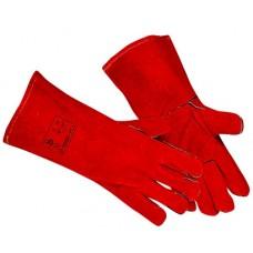 Краги спилковые с подкладом (красные)