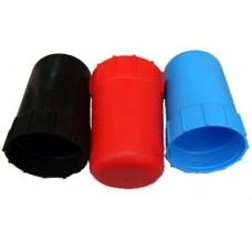 Колпак баллонный пластиковый с резьбой (синий)