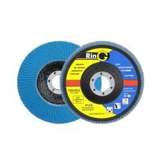 Круг лепестковый торцевой Р40 (RING) плоский, ЦИРКОНИЙ, синий