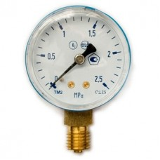 Манометр на редуктор кислородный 2,5 МПа (25 атм)