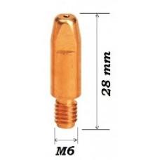 Наконечник сварочный токосъемный для полуавтомата E-Cu M6/0,8/D=8,0/28,0 (MTL)