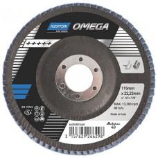 Круг лепестковый торцевой КЛТ 125х22 P40 Norton Omega